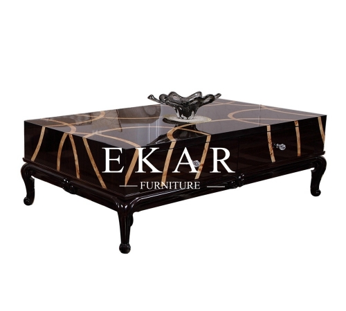 Low Narrow Coffee End Table With Drawer