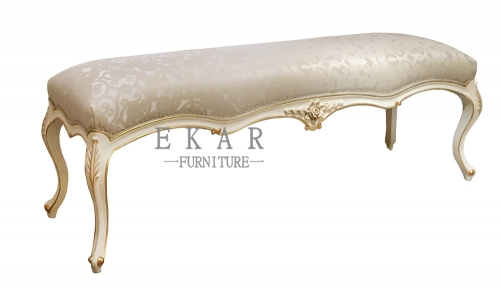 Golden Silk Fabric Bed Stool/Bed Bench/Bench in Front of Bed/End of Bed Seat