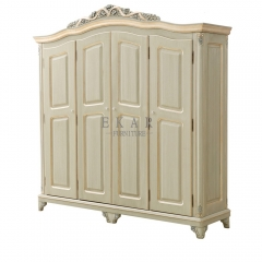 Four Doors Armoire Antique Solid Wood Armoire Wardrobe