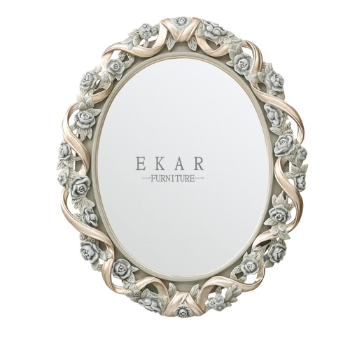 Floral Wooden Vanity Mirror/Wall Mirror/Makeup Mirror/Bedroom Mirror