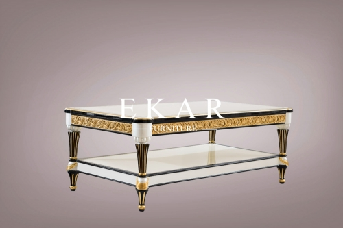 High-end Spanish Style Living Room White Coffee Table