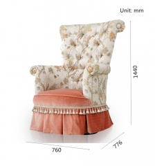 Comfy Small Stuffed Tufted Sitting Armchair Chairs For Sale
