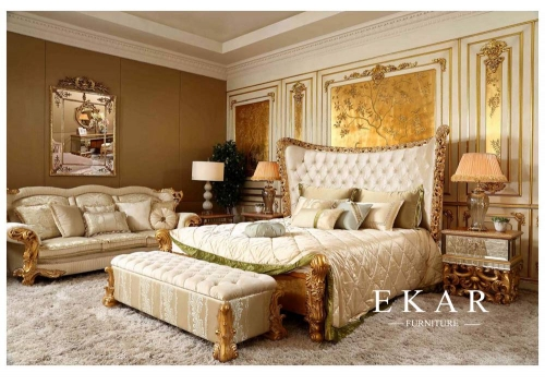 Luxury royal simple bed room furniture wooden bed designs bedroom furniture
