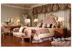 Living room furniture Luxury fabric corner sofa set