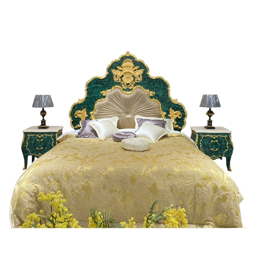 Factory Antique Bed Room Wood Furniture Fashionable Bedroom Set